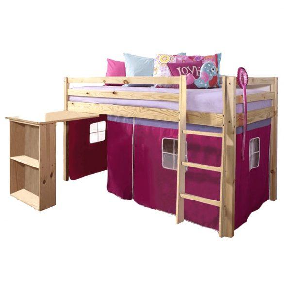 ALZENA magasított fa ágy